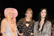 Fashion Designer Andrea Diodati, Tennessee Thomas and  Sarah Sophie Flicker attend Anna Sui Spring 2016 during New York Fashion Week: The Shows at The Arc, Skylight at Moynihan Station on September 16, 2015 in New York City.