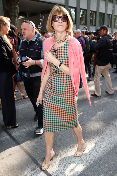 Anna Wintour - MFW: Arrivals at Emporio Armani