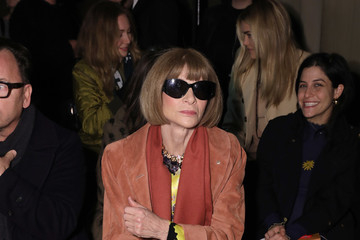 Anna Wintour Lindt Chocolate At The Rodarte Fall/Winter 2020 Fashion Show