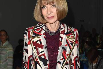 Anna Wintour Front Row at Versace