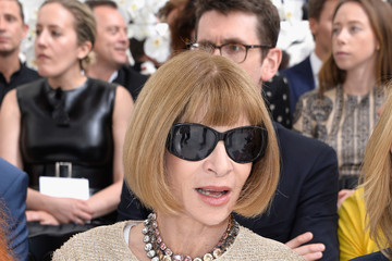 Anna Wintour Front Row at Christian Dior