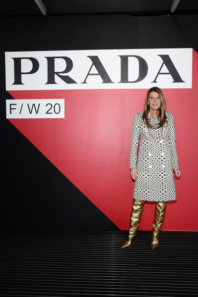 Prada Fall/Winter 2020/2021 Womenswear Fashion Show – Arrivals and Front Row [fashion show,show,fashion,clothing,red,beauty,pink,fashion model,footwear,fashion design,design,model,arrivals,anna dello russo,prada fall,front row,milan,italy,prada,milan fashion week fall,milan,brenton thwaites,getty images,photography,image,stock photography,fashion,livingly media,fashion show]