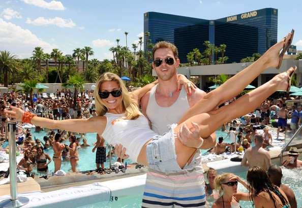 AnnaLynne McCord Birthday Celebration With Kellen Lutz At Wet Republic
