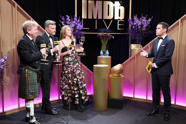 IMDb LIVE After The Emmys Presented By CBS All Access [outstanding television movie,event,award ceremony,award,ceremony,performance,talent show,emmys,russell mclean,annabel jones,charlie brooker,dave karger,imdb,cbs all access,imdb live,california]