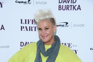 Anne Burrell David Burtka Celebrates The Launch Of The Life Is A Party Cookbook In New York City With The Capital One Savor® Credit Card
