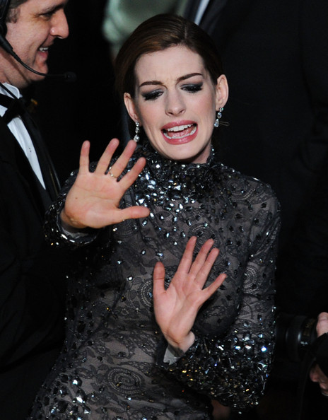 Anne Hathaway Host Anne Hathaway waves goodbye at the end of the 83rd Annual Academy Awards held at the Kodak Theatre on February 27, 2011 in Hollywood, California.