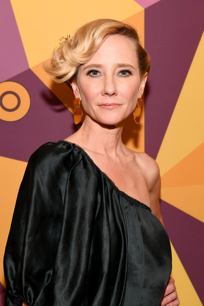 HBO's Official Golden Globe Awards After Party - Red Carpet [hair,hairstyle,blond,eyebrow,lip,long hair,hair coloring,dress,makeover,brown hair,anne heche,official golden globe awards,california,los angeles,circa 55 restaurant,hbo,party,red carpet]