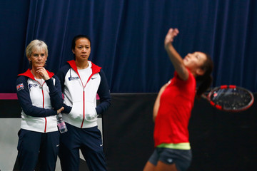 Anne Keothavong Heather Watson Fed Cup Europe/Africa Group One: Day 2