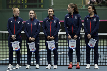Anne Keothavong Heather Watson Japan vs. Great Britain - Fed Cup World Group II Play-Off - Day 1