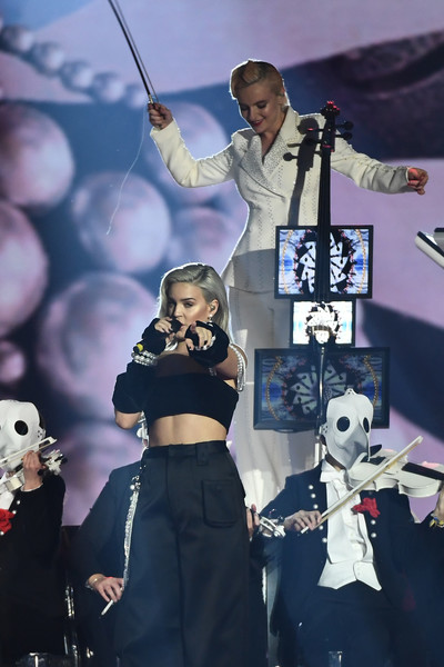 MTV EMAs 2017 - Show [performance,music artist,stage,music,pop music,performing arts,singer,event,talent show,musician,anne marie,stage,england,london,sse arena,wembley,mtv,clean bandit,emas 2017 - show]