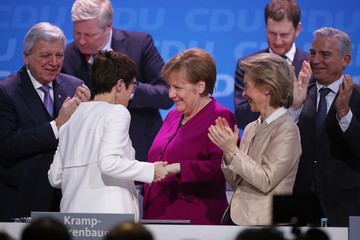 Annegret Kramp-Karrenbauer CDU Holds Party Congress, Elects General Secretary