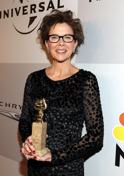 Actress Annette Bening arrives at NBCUniversal/Focus Features Golden Globes