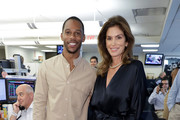 Victor Cruz and Cindy Crawford attend the Annual Charity Day Hosted By Cantor Fitzgerald, BGC and GFI on September 11, 2019 in New York City.