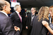 Howard Lutnick (L), Tony Blair, and Steve Buscemi (R) attend the Annual Charity Day hosted by Cantor Fitzgerald, BGC and GFI at Cantor Fitzgerald on September 11, 2018 in New York City.