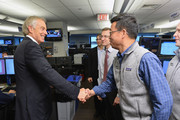 Tony Blair (L) attends the Annual Charity Day hosted by Cantor Fitzgerald, BGC and GFI at Cantor Fitzgerald on September 11, 2018 in New York City.