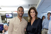Victor Cruz and Cindy Crawford attends the Annual Charity Day Hosted By Cantor Fitzgerald, BGC and GFI on September 11, 2019 in New York City.