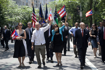 Michael Bloomberg Ray Kelly Annual Puerto Rican Day Parade Held In New York City