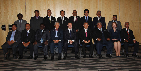 Anote Tong - 42nd Pacific Islands Forum Takes Place In Auckland - Day 2