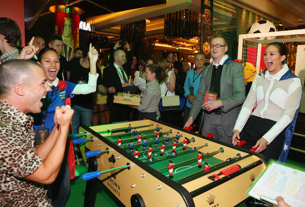 Anthony+Callea+Crown+Celebrity+Foosball+