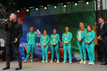 Anthony Callea Australian Olympic Team Melbourne Welcome Home Celebration