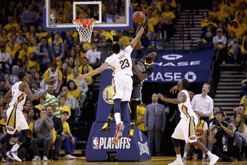 Anthony Davis Draymond Green New Orleans Pelicans vs. Golden State Warriors - Game Two