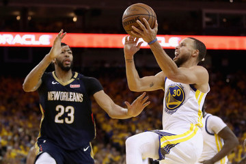 Anthony Davis Stephen Curry New Orleans Pelicans vs. Golden State Warriors - Game Five