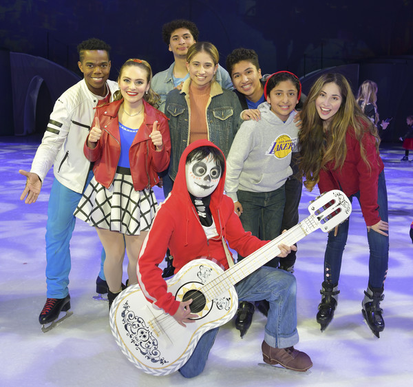 """2019 Disney On Ice """"Mickey's Search Party"""" [social group,musical instrument,guitar,string instrument,plucked string instruments,performance,event,musician,music,team,family,anthony gonzalez,miguel,r,portrait,disney on ice,staples center,california,los angeles,mickeys search party]"""
