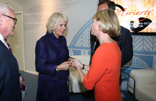 The London Book Fair [event,employment,conversation,camilla duchess of cornwall,kate mosse,anthony horowitz,london,england,earls court,the duchess of cornwall,visits,the london book fair,visit]