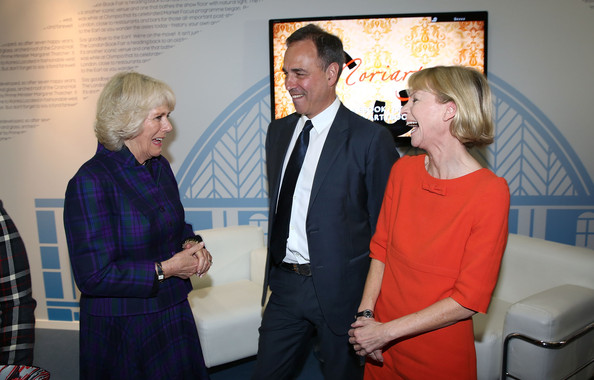 The London Book Fair [event,formal wear,suit,vernissage,official,employment,art,camilla duchess of cornwall,kate mosse,anthony horowitz,london,england,earls court,the duchess of cornwall,visits,the london book fair,visit]