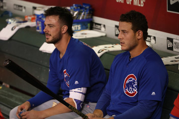 Anthony Rizzo Kris Bryant Chicago Cubs v Arizona Diamondbacks
