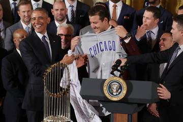 Anthony Rizzo President Obama Welcomes World Series Champion Chicago Cubs To White House