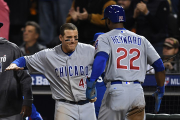 Anthony Rizzo Division Series - Chicago Cubs v San Francisco Giants- Game Four