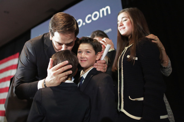 Photo of Marco Rubio & his  Son  Amanda Rubio