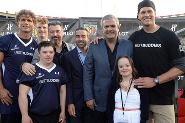 Anthony Shriver Hublot Joins Tom Brady to Support Best Buddies Challenge Kick Off at Harvard Field In Boston