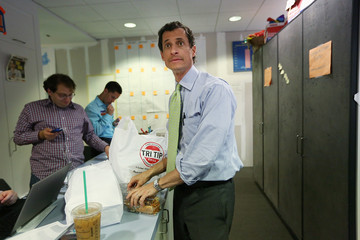 Anthony Weiner Anthony Weiner Visits His Campaign Headquarters