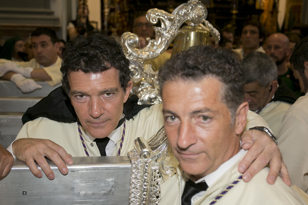 Antonio Banderas Attends Easter Procession In Malaga