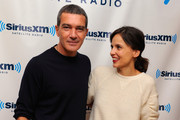 """Actors Antonio Banderas and Elena Anaya visit SiriusXM Studios to promote their new movie """"The Skin I Live In"""" on October 13, 2011 in New York, New York"""