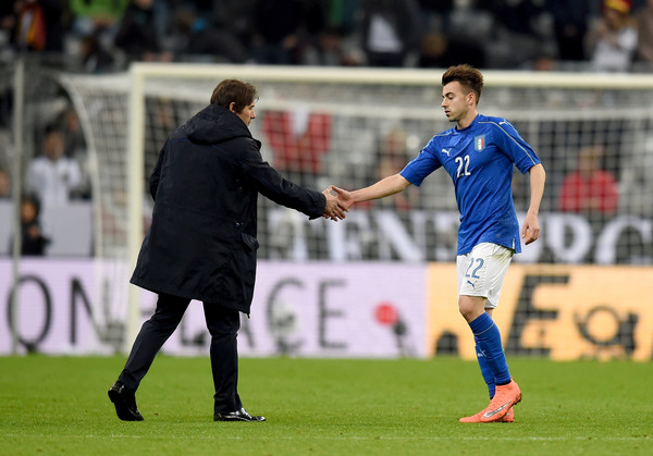 Germany v Italy - International Friendly [player,sports,sports equipment,team sport,ball game,sport venue,soccer player,football player,soccer,football,germany,l,munich,italy,allianz arena,match,italy antonio conte,italy - international friendly,stephan el shaarawy]