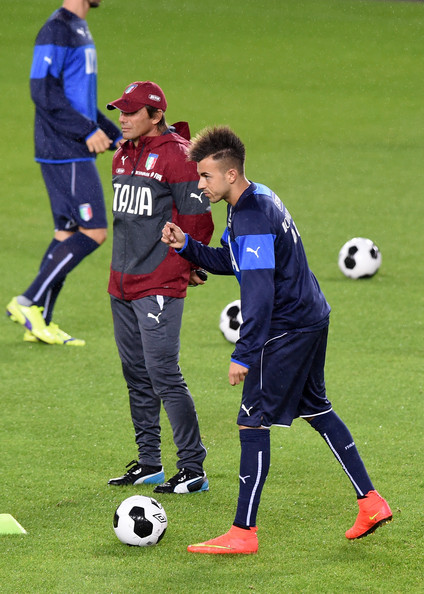Italy Training Session & Press Conference [player,sports,sports equipment,team sport,ball game,football player,football,sport venue,soccer player,soccer,antonio conte,stephan el shaarawy,r,italy,oslo,norway,ullevaal stadion,italy training session press conference,training session]