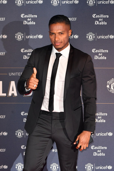 United For Unicef Gala Dinner - Red Carpet Arrivals [suit,tuxedo,formal wear,white-collar worker,event,premiere,tie,antonio valencia,gala dinner,manchester,england,old trafford,unicef,united]