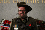 John Walker poses in a World War 1 soldiers  uniform near the Cenotaph during the Sydney Dawn Service on April 25, 2017 in Sydney, Australia. Australians commemorating 102 years since the Australian and New Zealand Army Corp (ANZAC) landed on the shores of Gallipoli on April 25, 1915, during World War 1. Anzac day is a national holiday in Australia, marked by a dawn service held during the time of the original Gallipoli landing and commemorated with ceremonies and parades throughout the day.