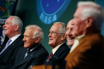 Charles Duke Apollo Astronauts Mark 40th Anniversary Of Lunar Landing At NASA HQ