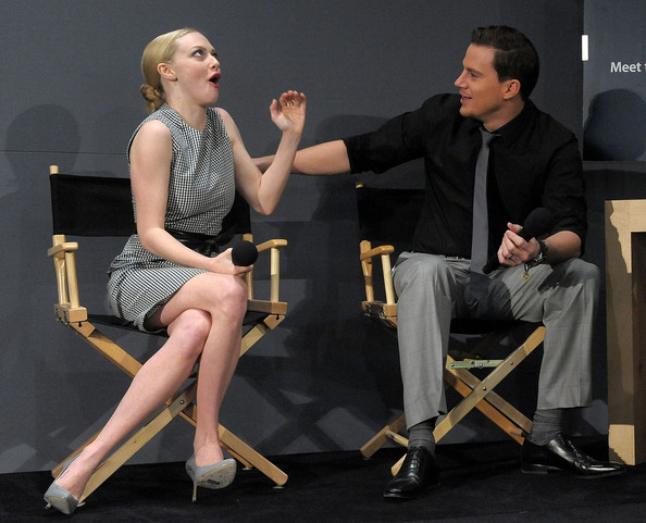 Amanda seyfried was surprised to learn channing tatum wasnt a jerk apple store soho presents meet the actors channing tatum amanda seyfried m4hsunfo