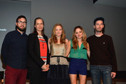 """(L-R) Lance Edmands, Amy Morton, Louisa Krause, Emily Meade and Kyle Martin attend Meet the Filmmaker: """"Bluebird"""" during the 2013 Tribeca Film Festival at the Apple Store Soho on April 19, 2013 in New York City."""