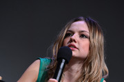 """Actress Emily Meade speaks at Meet the Filmmaker: """"Bluebird"""" during the 2013 Tribeca Film Festival at the Apple Store Soho on April 19, 2013 in New York City."""