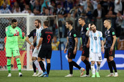 Lionel Messi of Argentina looks on during the 2018 FIFA World Cup Russia group D match between Argentina and Croatia at Nizhny Novgorod Stadium on June 21, 2018 in Nizhny Novgorod, Russia.