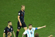 Lionel Messi of Argentina argues with Luka Modric of Croatia during the 2018 FIFA World Cup Russia group D match between Argentina and Croatia at Nizhny Novgorod Stadium on June 21, 2018 in Nizhny Novgorod, Russia.