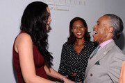 Kimora Lee Simmons, Aisha McShaw, and the Rev. Al Sharpton attend the Argyleculture By Russell Simmons fashion show during Mercedes-Benz Fashion Week Spring 2015 at Helen Mills Event Space on September 5, 2014 in New York City.