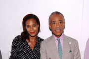 Aisha McShaw, left, and the Rev. Al Sharpton attend the Argyleculture By Russell Simmons fashion show during Mercedes-Benz Fashion Week Spring 2015 at Helen Mills Event Space on September 5, 2014 in New York City.