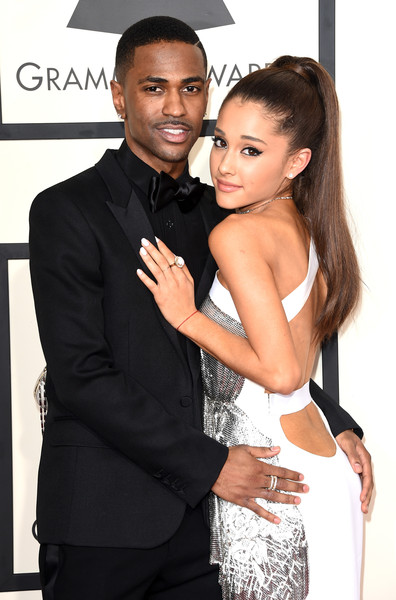 57th GRAMMY Awards - Arrivals [suit,formal wear,hairstyle,tuxedo,dress,fashion,event,model,long hair,cocktail dress,arrivals,big sean,ariana grande,grammy awards,los angeles,california,staples center,l,the 57th annual grammy awards]